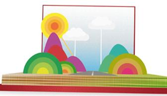 Make an animated 3D pop-up book