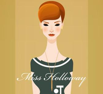 Mad Men inspires stylish retro vector artworks
