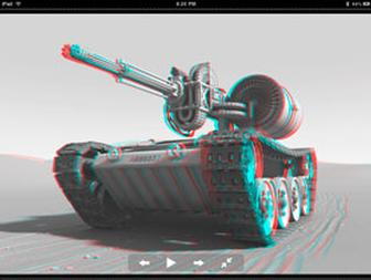 See stereoscopic and anaglyphic 3D on your iPad