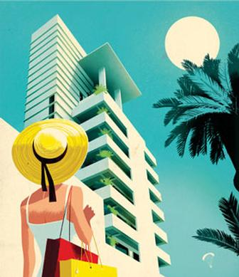 Jonas Bergstrand crafts beautiful 'vintage' posters for Soho Beach House