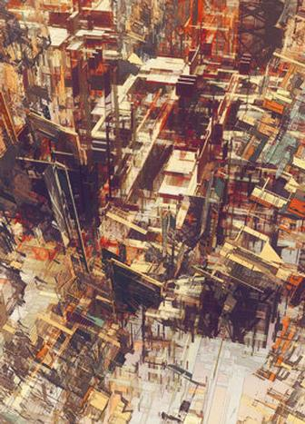 Deconstructing cities through CG-driven illustration