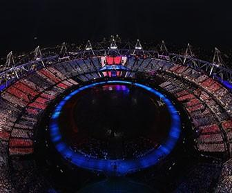 How the London 2012 Olympics opening ceremony audience became a giant TV screen