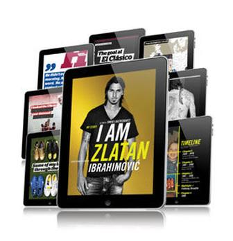Interactive Zlatan Ibrahimovic biography iPad app published using InDesign and Mag+