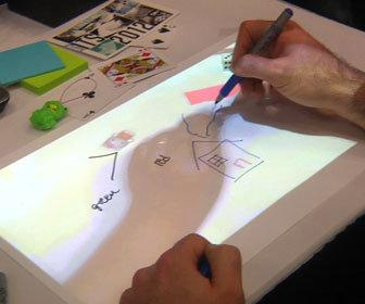 IllumiShare lets artists draw together on paper from anywhere in the world