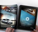 Lexus animates a print ad by projecting through it from an iPad
