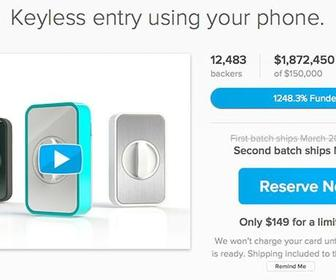 Selfstarter allows you to build Kickstarter-style crowdfunding into a project site