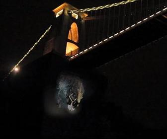 200ft 3D projection sees a troll emerge from Clifton Suspension Bridge
