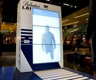 AllofUs and Work Club create a Kinect-powered interactive art installation in Schipol airport