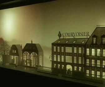 Updated: Courvoisier's history projected onto papercraft theatre