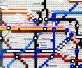 Lego tube maps appear in London stations