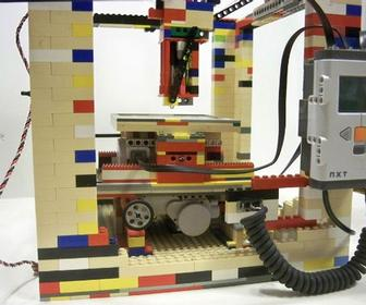 Legobot is a DIY 3D printer made entirely from Lego bricks