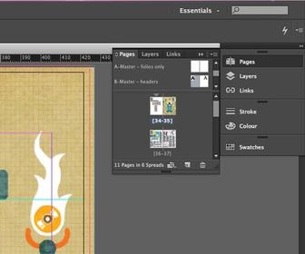 How to edit a master page in InDesign
