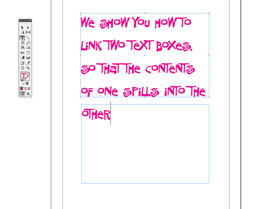 How to link text boxes in Adobe InDesign