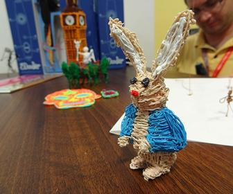 See the 3Doodler pen in action at its public debut