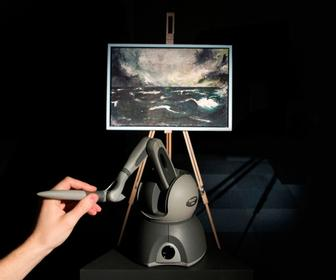 Interactive painting lets visitors hear & feel art