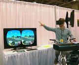 Classic 80s video game Paperboy updated with Oculus Rift, Kinect and a real bike