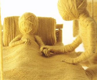 Watch James' stop-motion music video made of wool