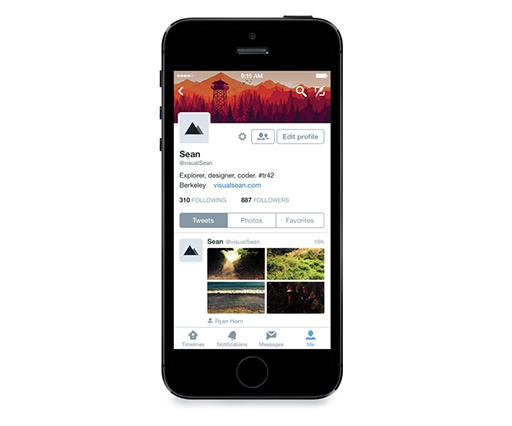 Twitter upgrades for iOS 8 with a profile makeover