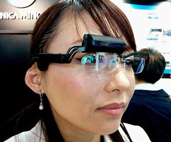 These holographic glasses are like a stereo 3D Google Glass
