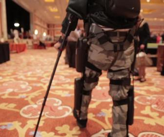 The ReWalk robotic exoskeleton helps paraplegics walk again