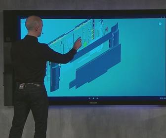 Microsoft's Surface Hub is an 84-inch, 4K touchscreen for collaborating on projects and pitches