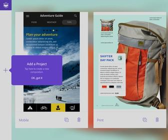 Get the free Adobe Comp CC iPad app for rapid layout design
