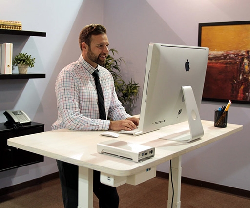 Autonomous Desk is a voice-controlled sit/stand desk