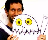 Watch Jon Burgerman Live Draw Humpty Dumpty for Sesame Street