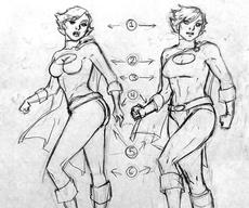 How to Draw Realistic Female Superheroes