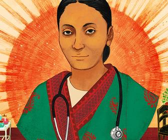 Illustrator Shreya Gupta on her Google Doodle celebrating India's first female doctor