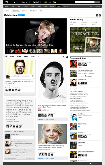 MySpace redesign