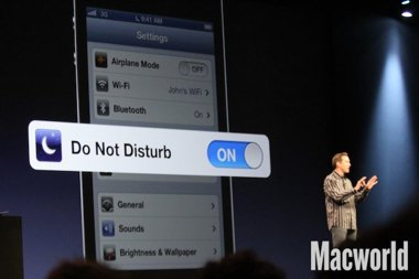 iOS 6 WWDC Do Not Disturb