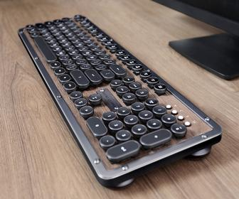 Azio Retro Classic review: This backlit mechanical keyboard offers vintage style