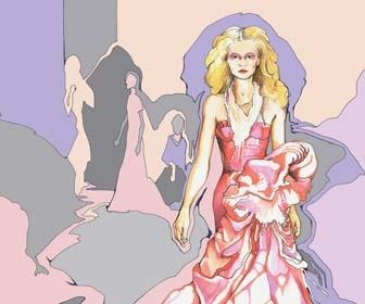 Apply colour to a fashion illustration