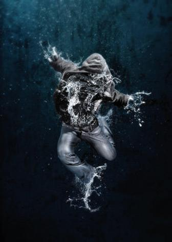 Create amazing water-drenched photomontages