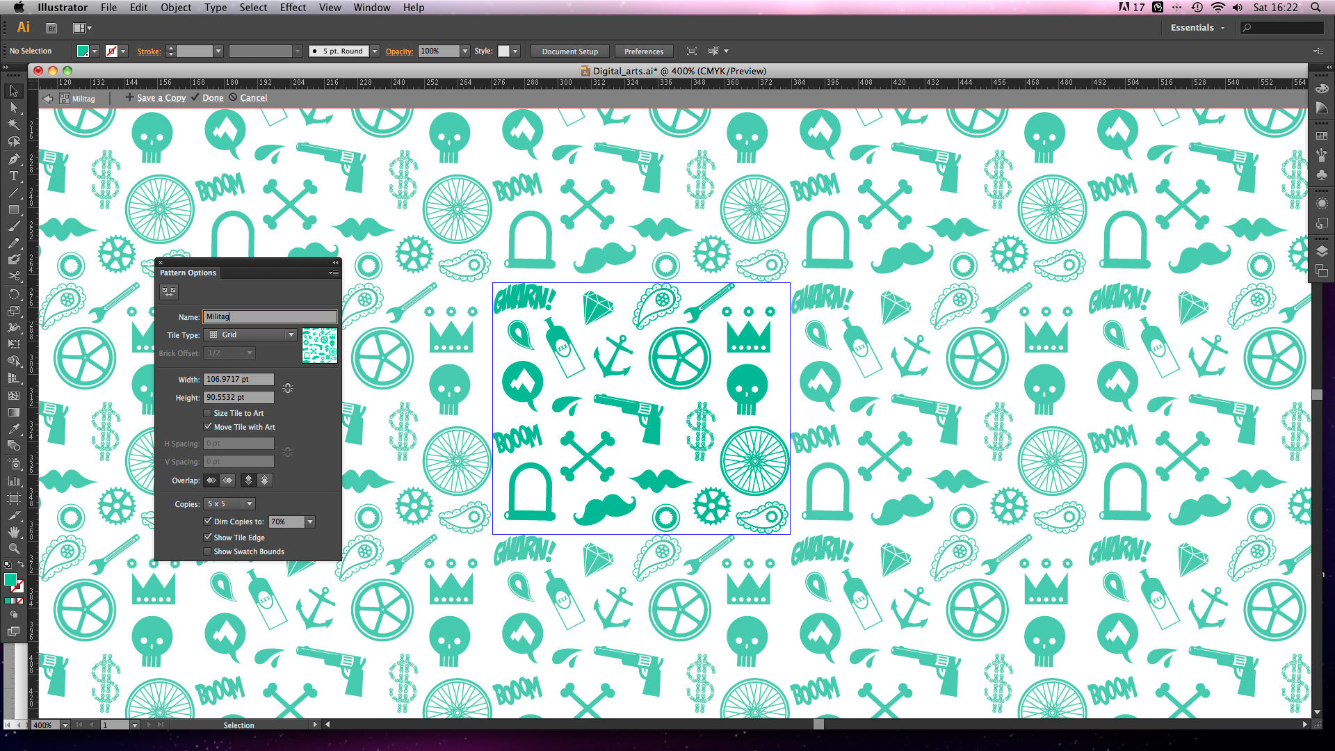 adobe illustrator tutorial create seamless repeating patterns using
