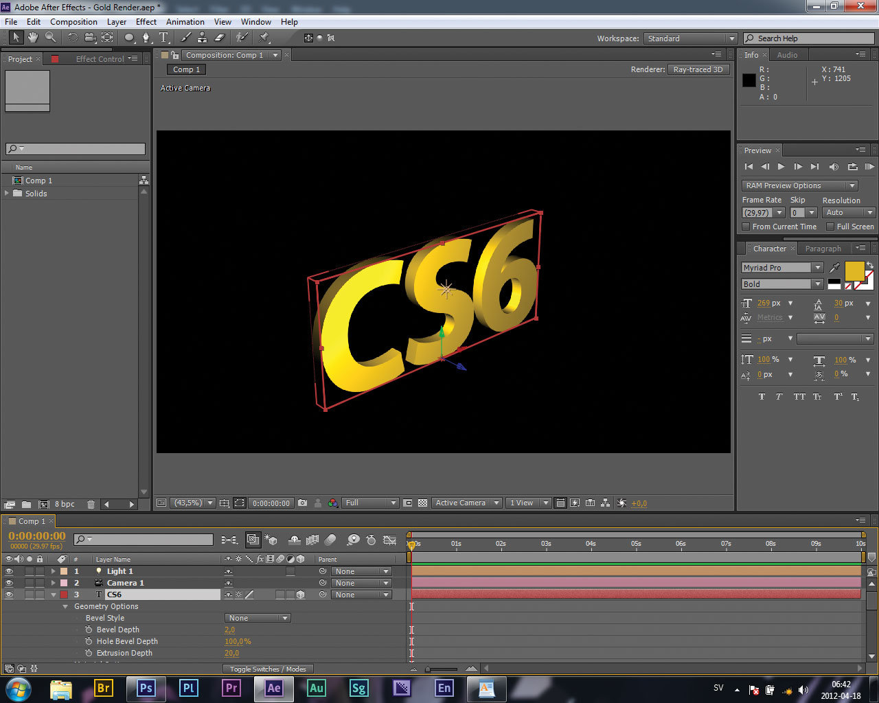 Make Most Of After Effects Cs6s New 3d Engine