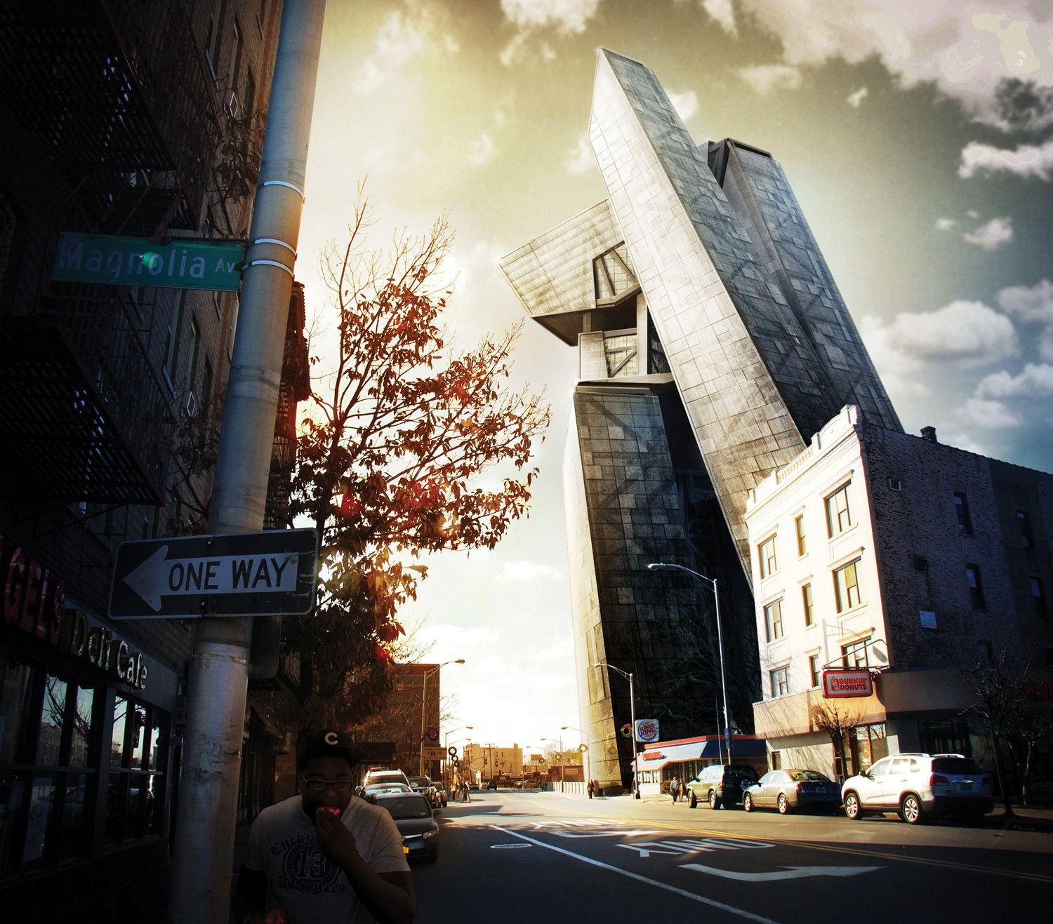 Photoshop tutorial composite a 3d building into a photo digital tools photoshop baditri Images