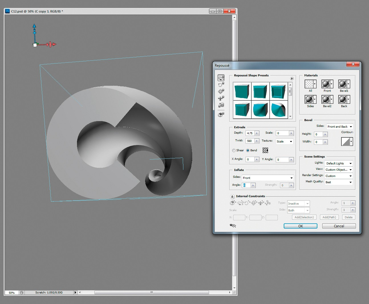 How to make 3D Text Effect illustrator Photoshop