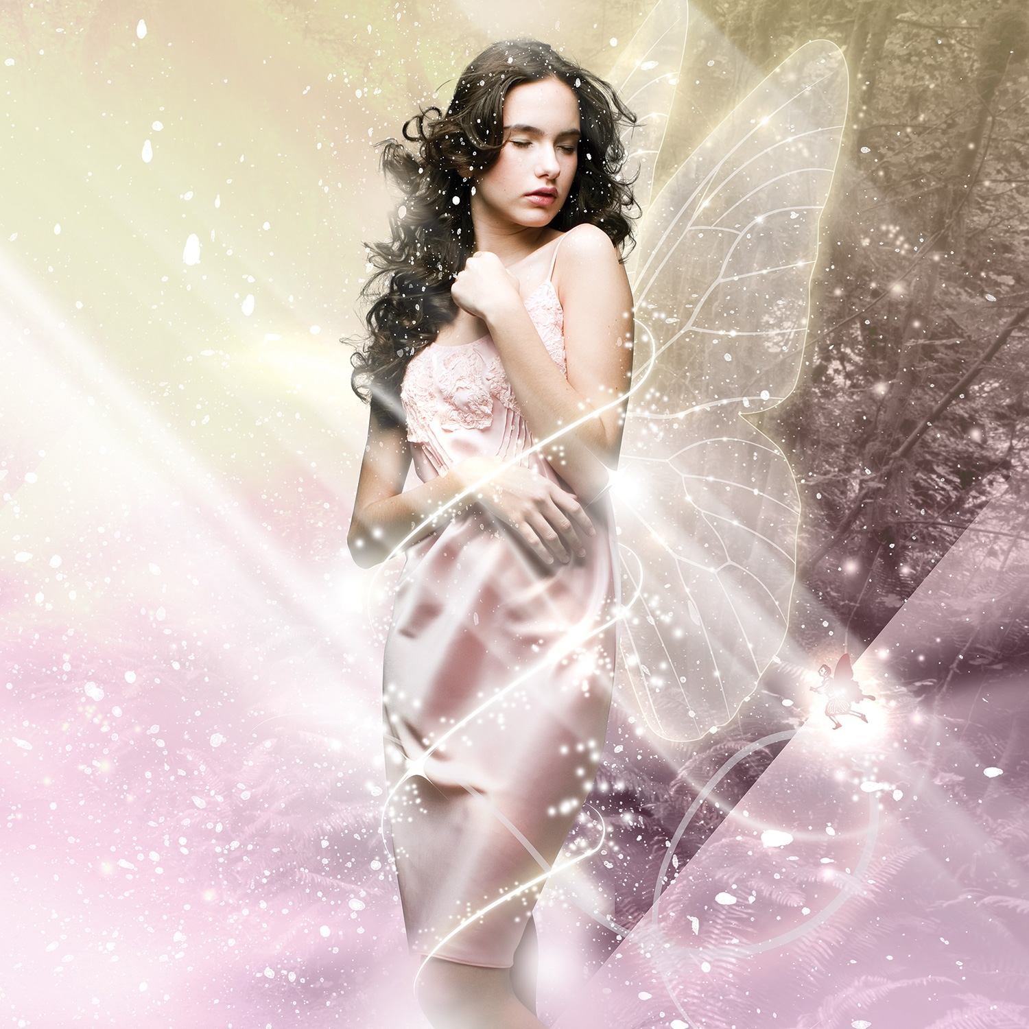 Photoshop tutorial add fantasy light effects to photo for Design foto