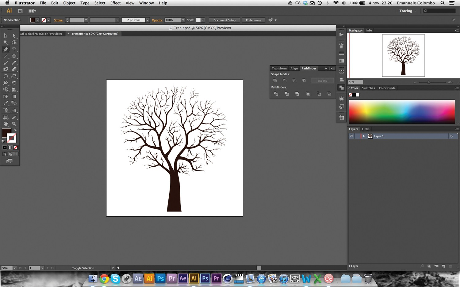 As Drawing The Branches Can Be Fiddly Take Your Time Until You Obtain  A Result That Satisfies You When You've Finished, Save The File As Tree