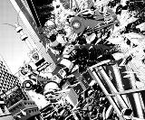 Create dynamic black & white comic artwork