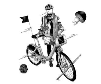 See Ugo Gattoni's bike illustrations for the Museum of London