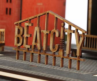 House and garage music made real by BeatCity iPhone speaker project