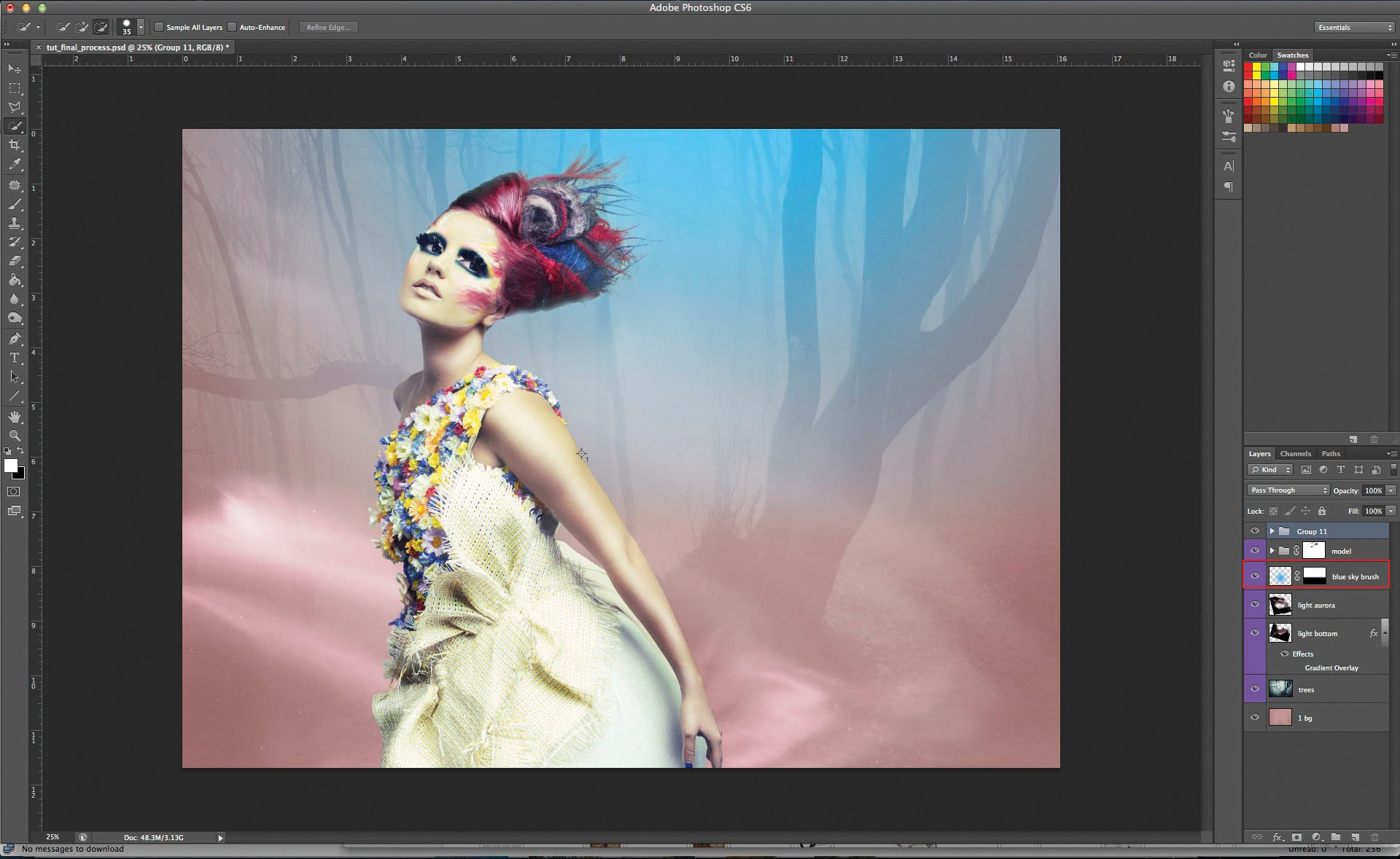 Adobe photoshop cs6 как сделать с фоном