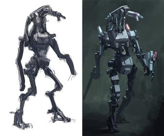How to create a robot painting in Photoshop