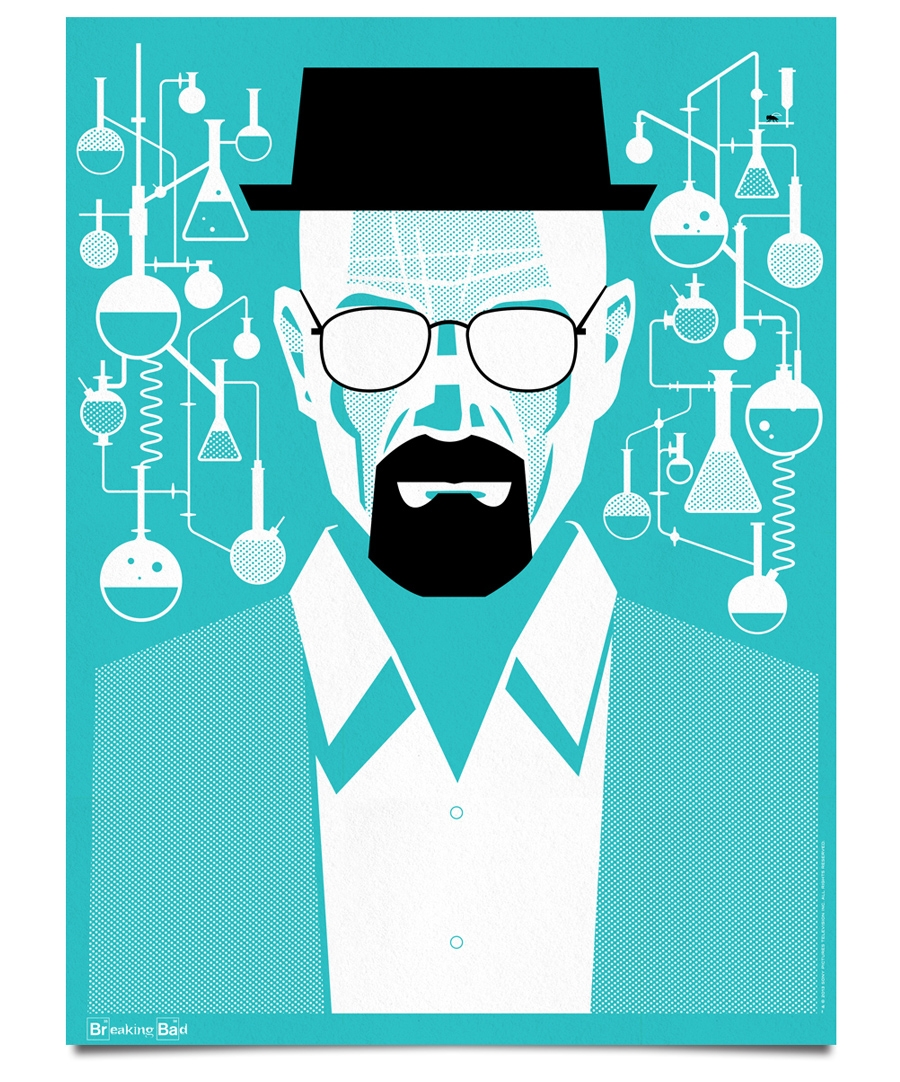 ty mattson 39 s official breaking bad posters go on sale digital arts. Black Bedroom Furniture Sets. Home Design Ideas