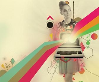 Create retro poster art