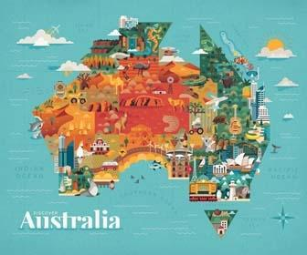 Create a vector map collage