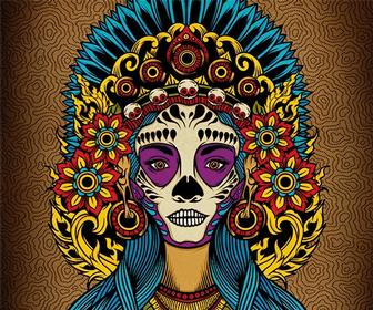 Create a Death Goddess inspired by Mexico's Day of the Dead